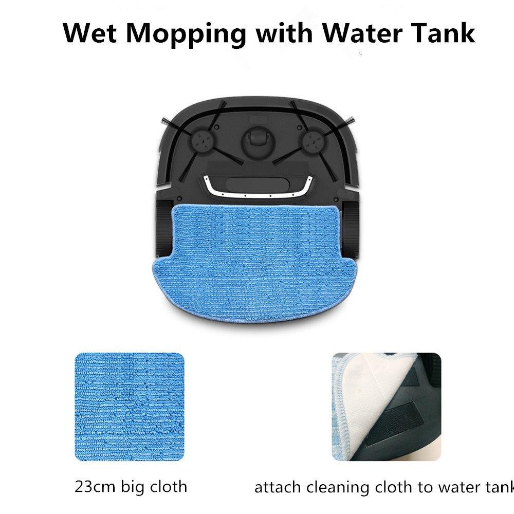 Mamibot Robot Aspirador Fregasuelos Mascotas con Tanque de Agua Limpiador de Trapeador Húmedo/seco con Sensor de Suciedad Alta Succión y Trapeado ...