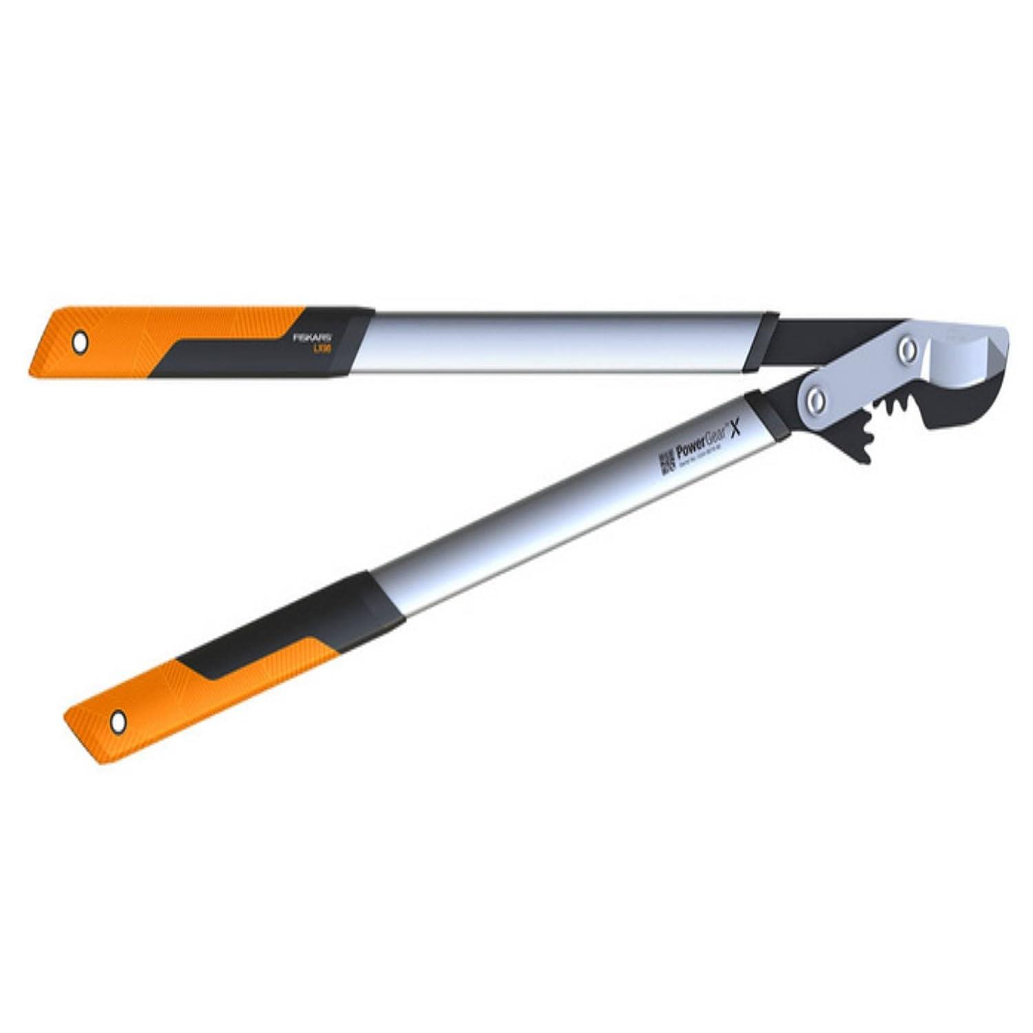 Fiskars PowerGear X Lopper Anvil L LX99, Size L, Cutting diameter: 5.5 cm, Non-stick coating, Hardened steel, Length: 80 cm, Black/Orange, 1020189