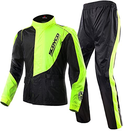 Scoyco RC01 Motorcycle Racing Waterproof Jacket Pants Set Rain Suit (XL)