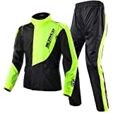 Scoyco RC01 Motorcycle Racing Waterproof Jacket Pants Set Rain Suit (XXL)