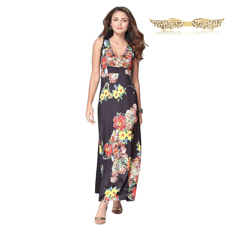 Angelwing Damen Kleider Printkleider Bunte Kleider Sommerkleider ...