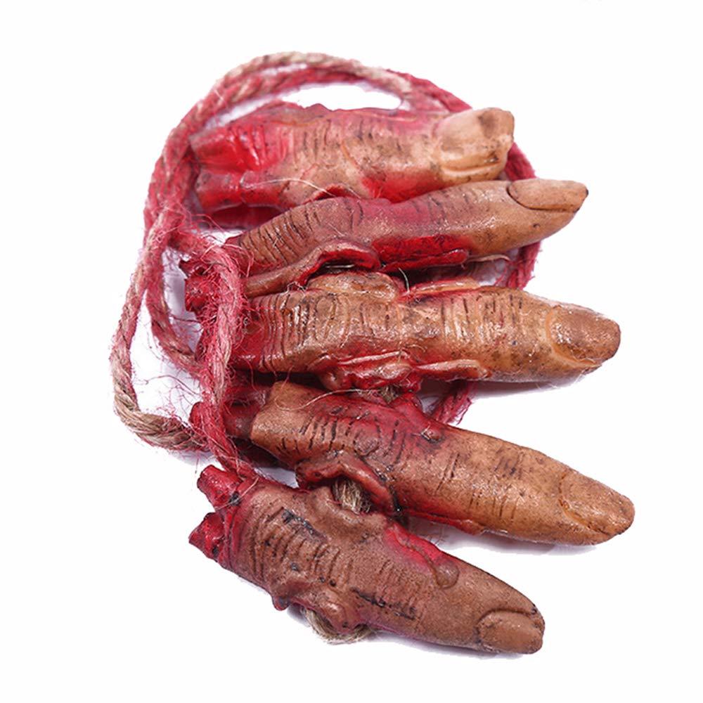 XONOR Piedi di Mani recise sanguinanti False di Halloween Parti del Corpo rotte per la Decorazione del Partito di Zombie di Halloween della casa stregata 7 Pezzi