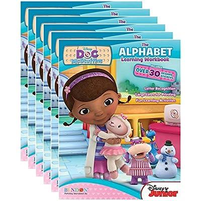Disney Junior's Doc McStuffins Alphabet Workbooks with Reward Stickers (Pack of 6)