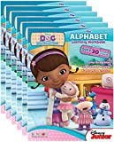 Disney Junior's Doc McStuffins Alphabet Workbooks with Reward Stickers (Pack of 6)
