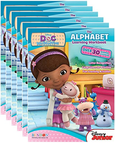 Disney Junior's Doc McStuffins Alphabet Workbooks with Reward Stickers (Pack of 6) by Bendon