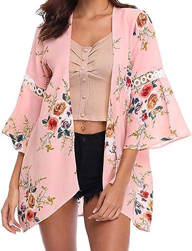 Yvelands Moda Mujer Cordón de Gasa Floral Abierto Cape Casual Coat Blusa Kimono Chaqueta Cardigan Camiseta Vestido Falda Blusa Top, Cheap Liquidación!: Amazon.es: Ropa y accesorios