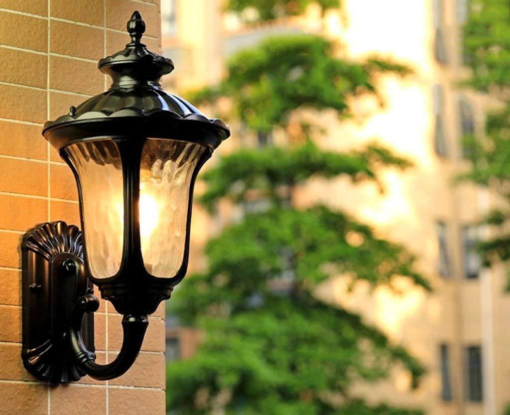 Mirror Lamps Home Wandmontierte Wandleuchte - Moderne, minimalistische Wasserdichte Außenwandleuchte Villa Hof Garten Balkon Wohnzimmer Wandleuchte Gangflur Wandleuchte (Farbe   A)