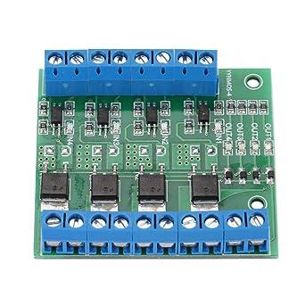 MOS FET PWM 3-20 V a 3.7-27 VCC 10 A Módulo controlador de 4 ...