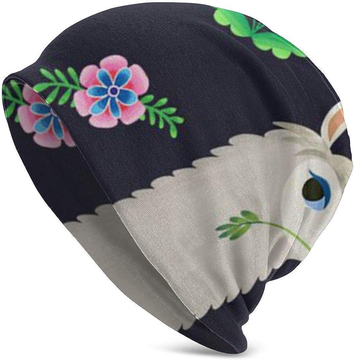 Tedtte Cute Llama Alpaca Pattern Mujeres Hombres Elegante Beanie Hat Soft Stretch Knit Sgorra louchy