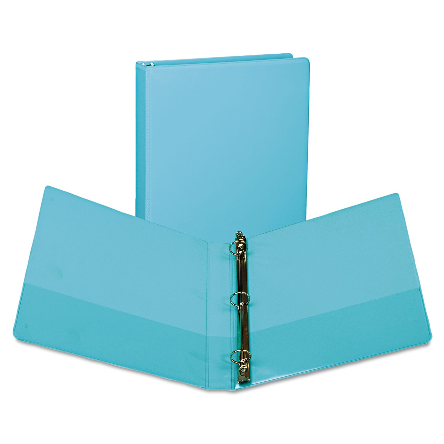 Samsill U86377 Fashion View Binder Round Ring 11 x 8-1/2 1'' Capacity Turquoise 2/Pack