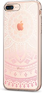 Spigen - Funda iPhone 7 Plus, ® [Liquid Crystal] Ultra-Thin [Shine Pink] Premium Semi-Transparent/Exact fit/no Bulkiness Soft Funda Carcasa para iPhone 7 Plus (2016) - (043cs20960)