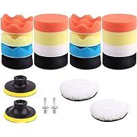 CoWalkers 22 Pcs Kit de almohadilla de pulido con taladro de espuma para automóviles para lijado, pulido, encerado y…