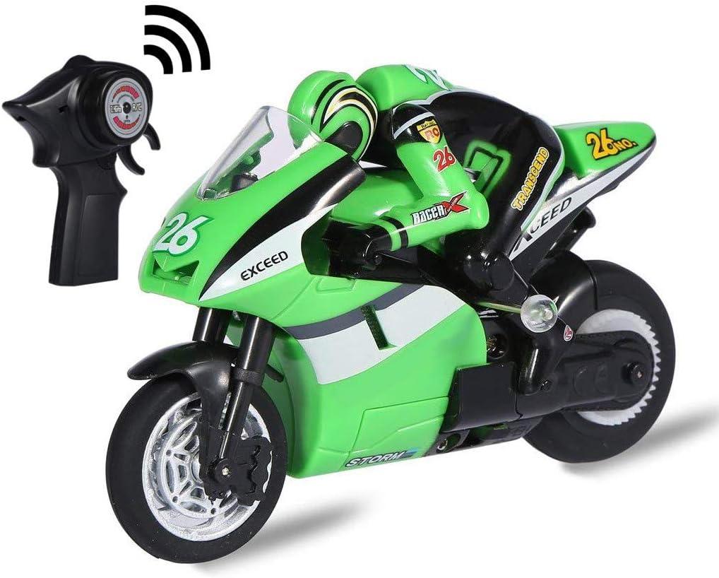 Top Race El control remoto RC de 4 canales Moto va en 2 ruedas con giroscopio incorporado, escala 1: 20, carga USB. TR-M29G