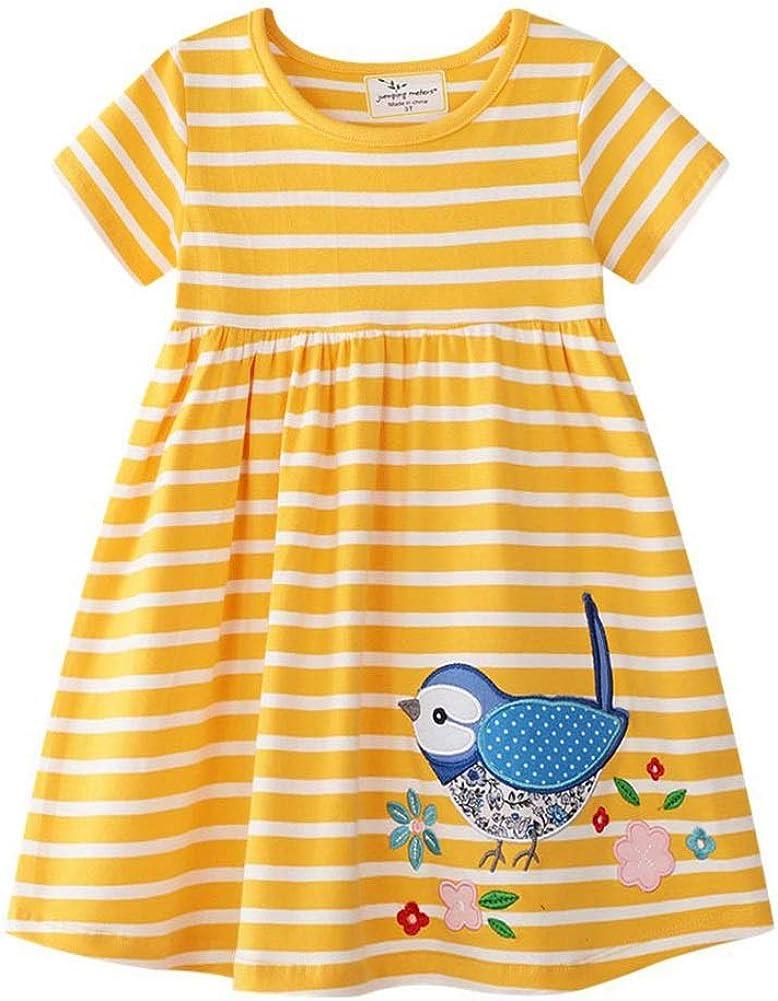 Amazon.com: HZYBABY Little Girl Summer Basic Active Shirt Dresses Kids  Casual Cotton Applique Tunic Dress: Clothing