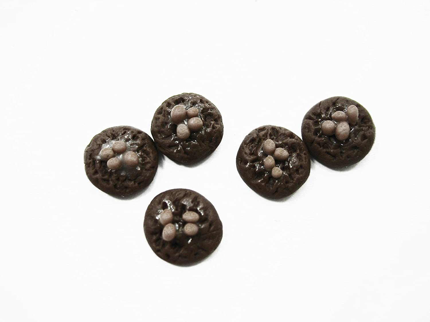 Dollhouse Miniatures Food Lot 10 Loose Chocolate Chip Cookie Supply Charms 12476