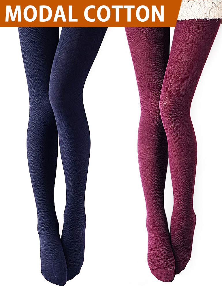 83c52922defe0 VERO MONTE Modal & Cotton Opaque Patterned Tights for Women - Knitted Tights  product image