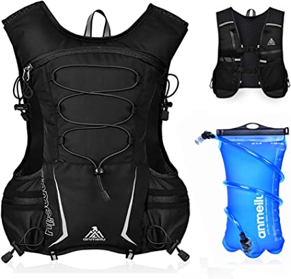 Running Hydration Backpack with 2L Water Bladder Camping Hiking Vest Pack Gear