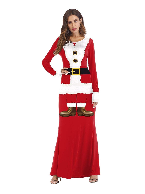 SDLRYF Disfraz De Papá Noel Traje De Navidad Cos Dress Up Ball ...