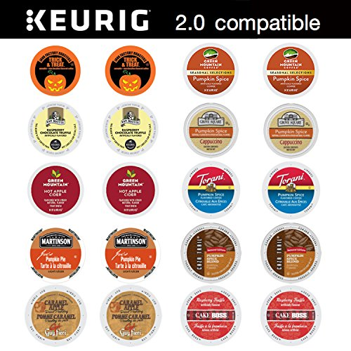 (20 ct. Ultimate Fall Halloween K Cup Pack for Keurig 2.0 & 1.0 Single Serve Cup Brewers - Pumpkin Marshmallow and)