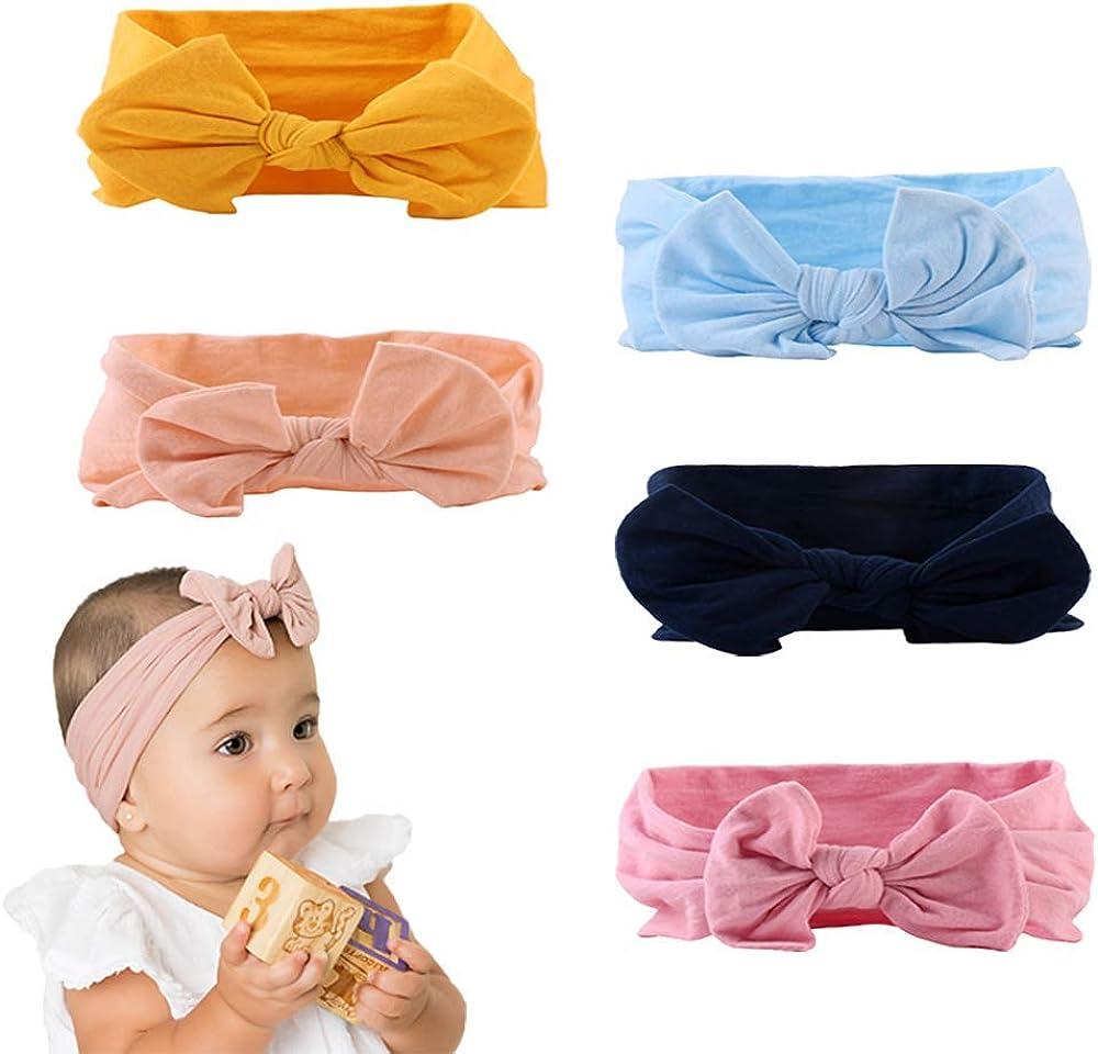 Newborn Photo Prop Nylon Baby Headband Baby Bow Band Mint Baby Headband Pink Baby Headband Headbands for Babies Easter Baby Bow