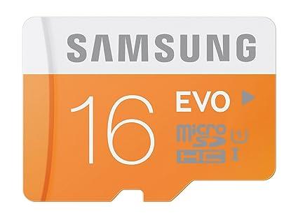 Samsung Evo MB-MP16D/EU - Tarjeta de memoria Micro SDHC de 16 GB (UHS-I Grade 1, Clase 10)