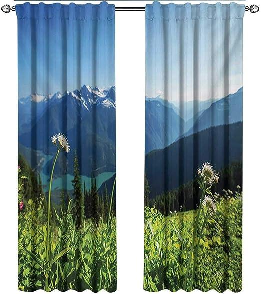 Cortinas Modernas, Diablo Lake Washington Mountains con diseño de ...