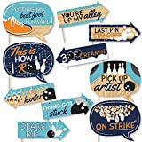 Funny Strike Up the Fun - Bowling - Birthday Party or Baby Shower Photo Booth Props Kit - 10 Piece