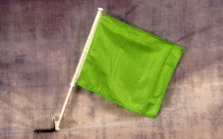 NEOPlex Solid Green Car Window Flag