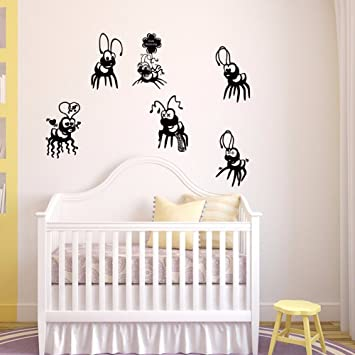 kuamai Cartoon Cute Ameisen Vinyl Tapetensticker Home Decor ...