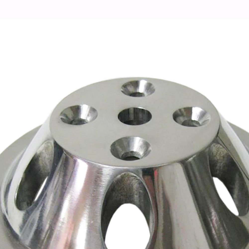 Pulley Set For Chevy SBC LWP Double/Triple Groove Polished Aluminum by DEMOTOR (Image #6)