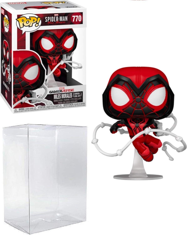 Spider-Man Miles Morales Crimson Cowl Suit Pop # 770 Marvel Gamerverse Vinyl Figure (Bundled with EcoTek Protector to Protect Display Box)