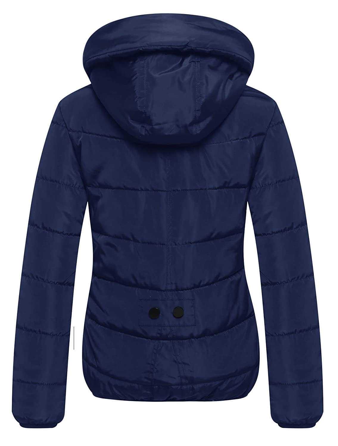 fc5aab8a51d Amazon.com: Wantdo Women's Parka Puffer Padded Cotton Snow Jacket with Hood  Navy Large: Clothing