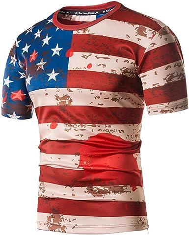 BHYDRY Camiseta Hombre Moda para Camisetas con Estampado de ...