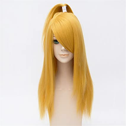 LanTing Cosplay Peluca Naruto Deidara Gold Long Styled Woman Cosplay Party Fashion Anime Human Costume Full