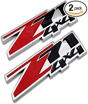 2x 4X4 3D Decal Emblems Sticker Nameplate for Off Road SUV Truck Car Chrome