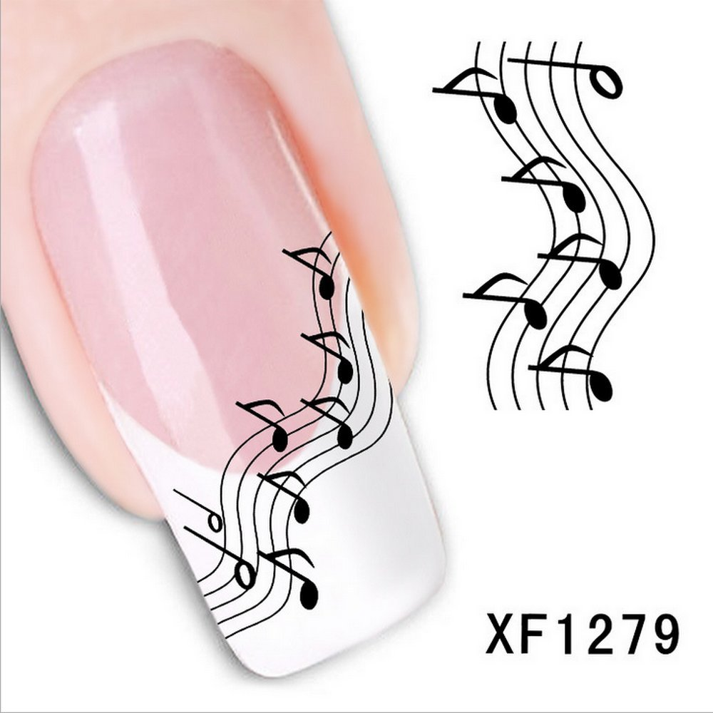 Amazon.com: Sheet Music Notes Water Slide Nail Art Decals Set #2 ...