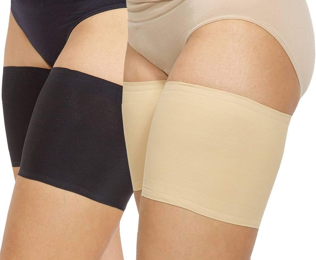 Bandelettes Elastic Anti-Chafing Thigh Bands - Prevent Thigh Chafing - Beige Unisex, Size C