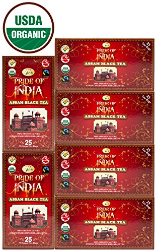 Pride Of India - Organic Indian Assam Breakfast Black Tea, 25 Count (6-Pack) REGULAR PRICE: $27.99, HOLIDAY LIMITED TIME SALE PRICE: $24.99 ()