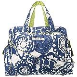 Ju-Ju-Be Be Prepared Diaper Bag with Tote Handles (Cobalt Blossoms)
