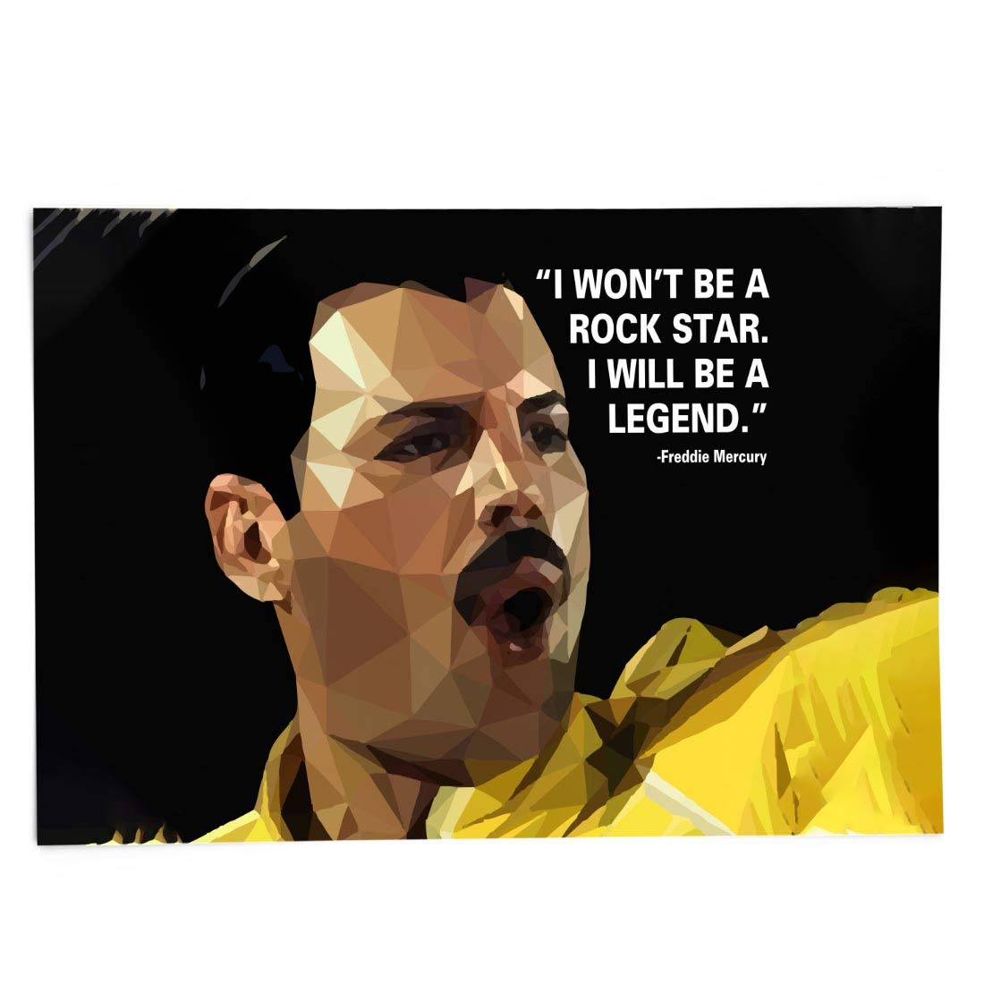 100yellow freddie mercury quote printed poster paper multicolour 12x18 inch amazon in home kitchen freddie mercury quote printed poster
