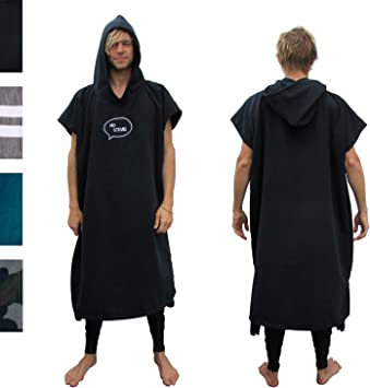Amazon.com: Jorongo de surf de microfibra gruesa (para ...