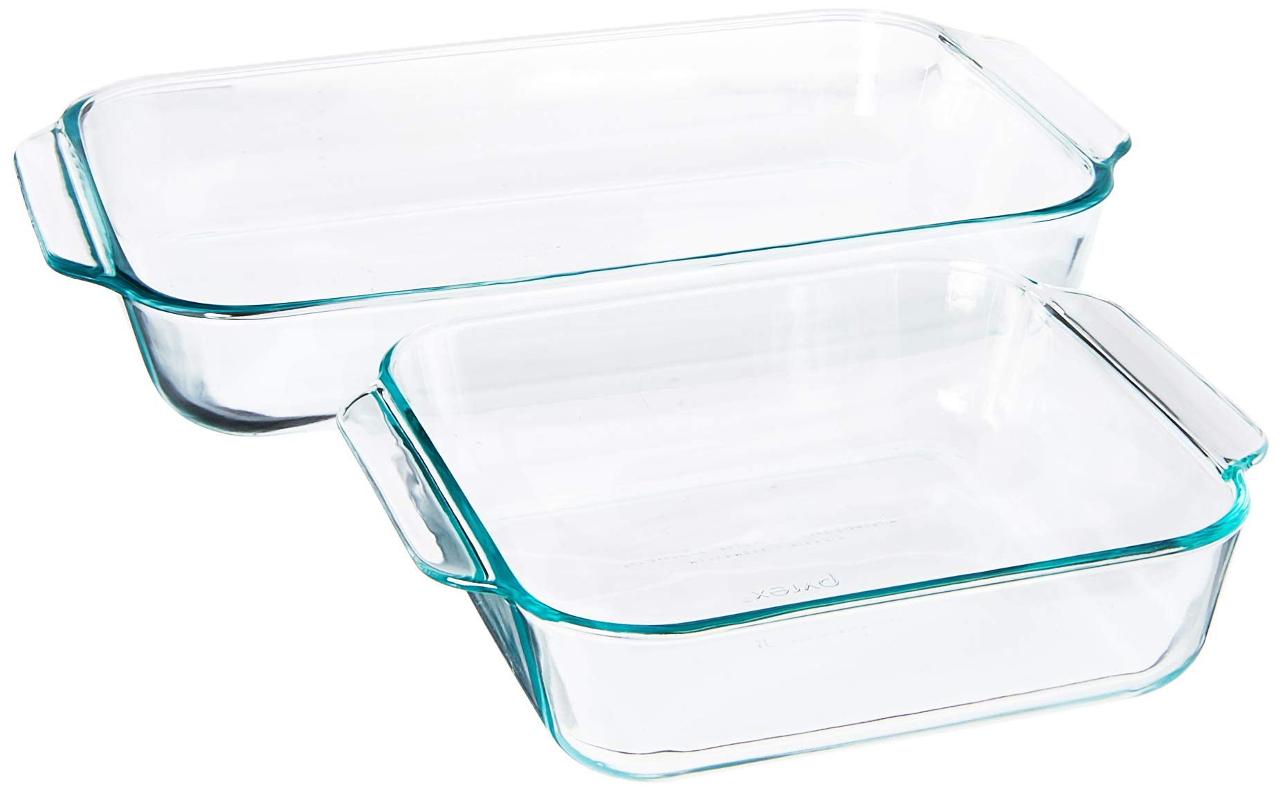Pyrex SYNCHKG106070 2Piece Basics Value Pack1-Basics 8''/2 dish1-Basics 3 Quart Oblong Bake Dish, 2.2, clear by Pyrex