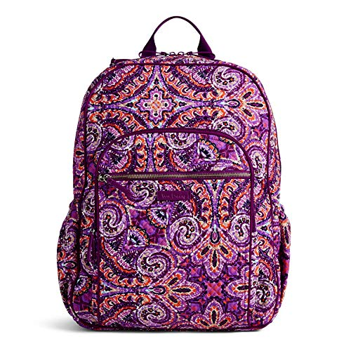 (Vera Bradley Iconic Campus Backpack, Signature Cotton, dream tapestry)