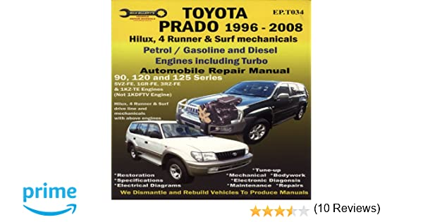 Toyota hilux turbo diesel workshop manual ebook coupon codes image toyota prado 1996 2008 automobile repair manual ep max ellery toyota prado 1996 2008 automobile repair fandeluxe Choice Image