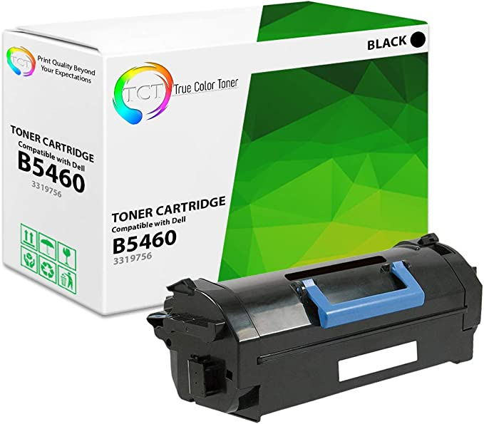 Toner CartridgeCompatible with Dell 331-9756 Ink Cartridge Applicable to Dell B5460dn B5465dnf Toner Cartridge-Black