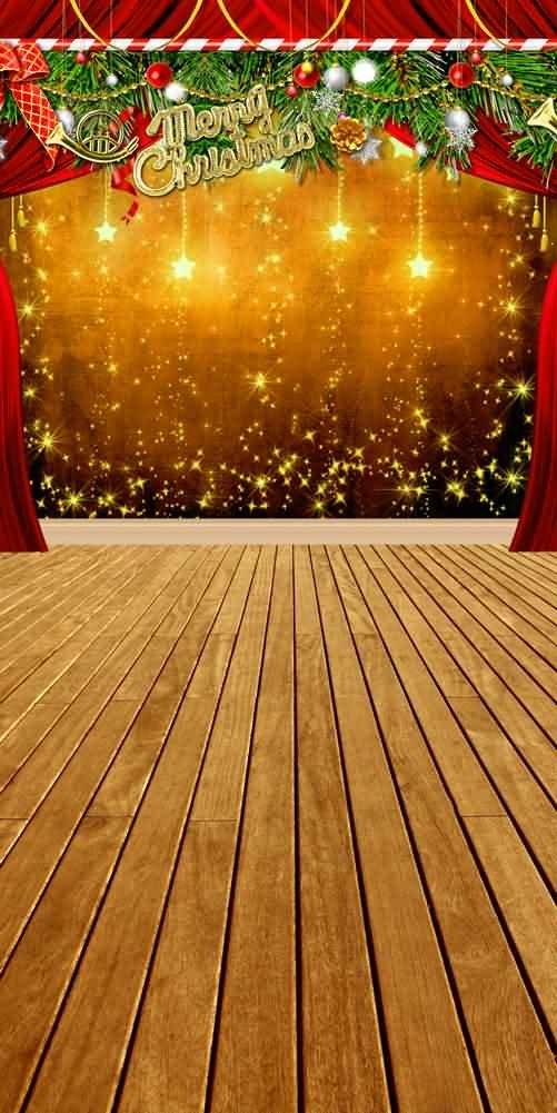 GladsBuy Dazzling星10 ' x 20 'コンピュータ印刷写真バックドロップクリスマステーマ背景l-855   B00OB26UPM