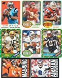 2013 Topps Archives NFL Football Series Complete Mint Basic 200 Card Set; It Was Never Issued in Factory Form. Absolutely Loaded with Hall of Famers, Stars and Rookies in Classic Topps Designs. Players Include Andrew Luck, Tom Brady, Russell Wilson, Dan Marino, John Elway, Joe Montana, Jerry Rice, Peyton Manning, Troy Aikman, Bart Starr, Emmitt Smith, Brett Favre, Joe Namath, Roger Staubach, Robert Griffin III, Terry Bradshaw and More.