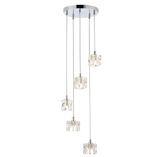 Modern 5 light ice cube spiral cluster ceiling pendant light led modern 5 light ice cube spiral cluster ceiling pendant light led compatible aloadofball Gallery
