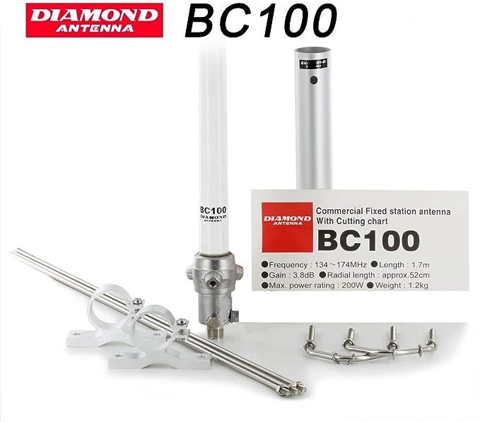 Diamond BC-100-Antena vertical VHF 136/174 MHz