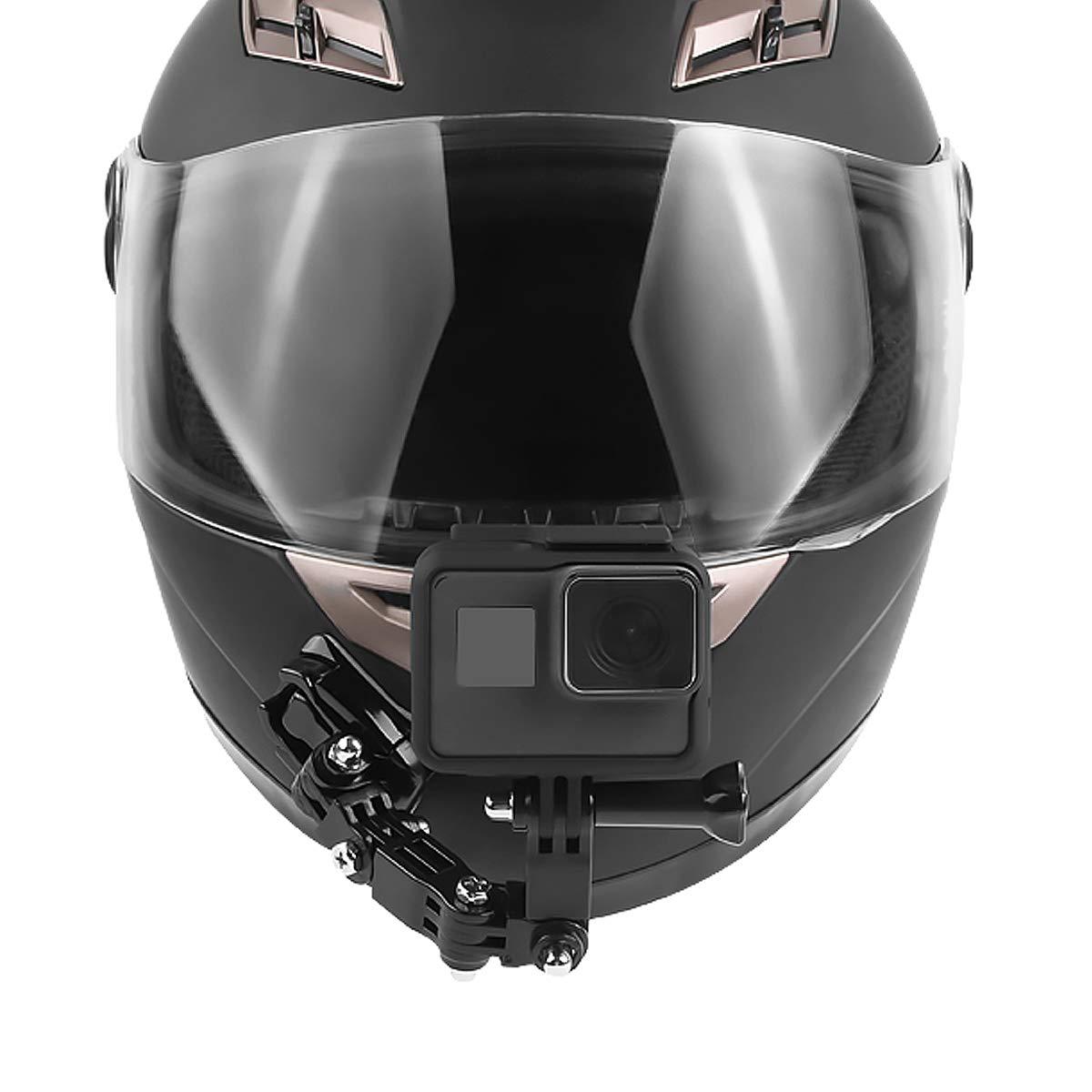 GOZAR Adh/ésif Visage Complet Casque Avant Monture pour Sjcam//Antshares//Gopro Hero 6 5 4 3 Action Camera